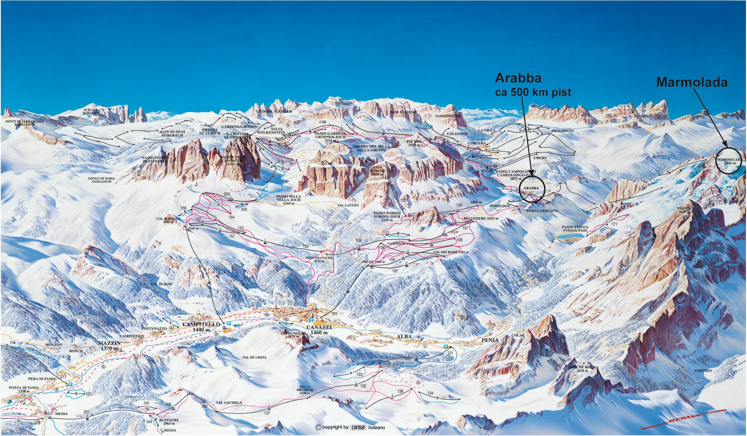 dolomiterna italien karta Bussresa Alperna   Skidåkning i Moena, Dolomiterna, Italien dolomiterna italien karta